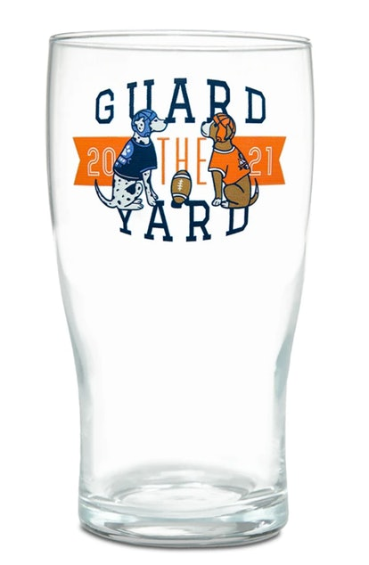 Guard The Yard Game Day Glass
