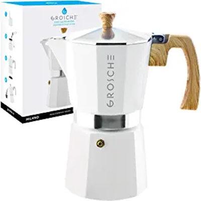 GROSCHE Milano Stovetop Espresso Maker Moka Pot (9- Espresso Cup)