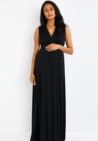 Sleeveless Caftan Maxi Maternity Dress