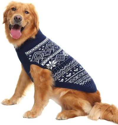 HOMIMP Argyle Dog Sweater