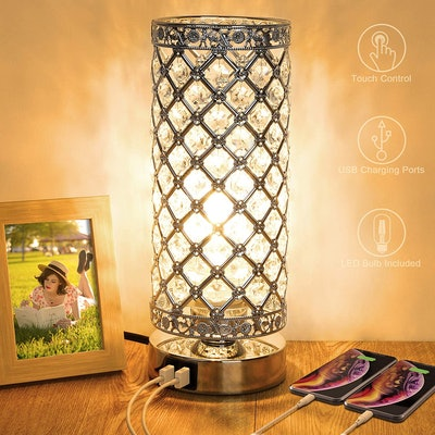MAXvolador Crystal Touch Control Table Lamp