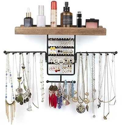 Olakee Wall Mounted Rotating Jewelry Holder
