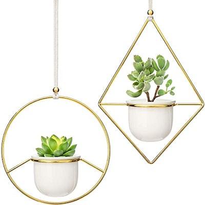 Mkono Mini Hanging Planter Vase (2 Pcs)