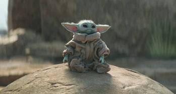 Baby Yoda on Tython in The Mandalorian