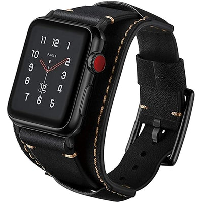 Coobes Leather Apple Watch Compatible Band