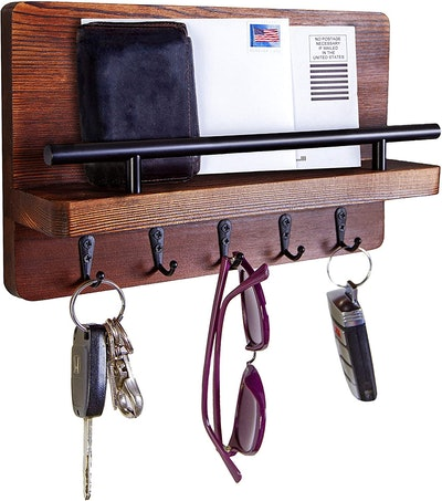 Ripple Creek Key Holder and Mail Shelf
