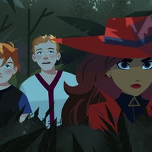 Carmen , Zack, and Ivy in 'Carmen Sandiego' via Netflix's press site