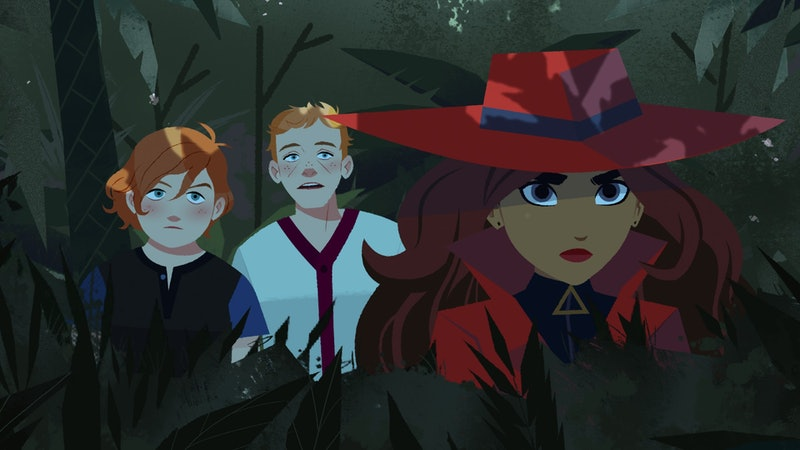 Carmen , Zack, and Ivy in 'Carmen Sandiego' via Netflix's press site