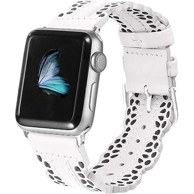 Secbolt Leather Apple Watch Compatible Band