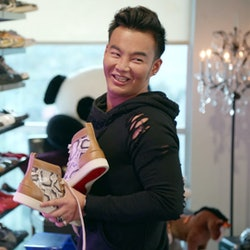 Kane Lim and his designer shoe collection on Netflix's 'Bling Empire' via Netflix Press Site