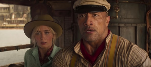 Emily Blunt and Dwayne the Rock Johnson star in Disney's Jungle Cruise.