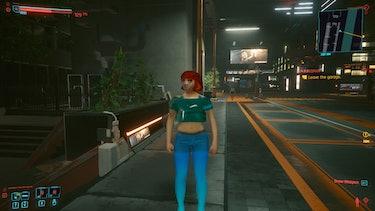 cyberpunk 2077 npc texture graphics bug