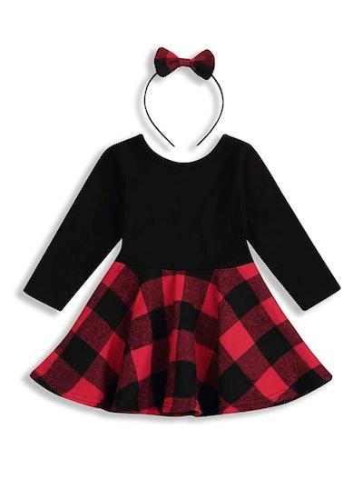 JEELLIGULAR Baby Girls Dress (2 Pieces)