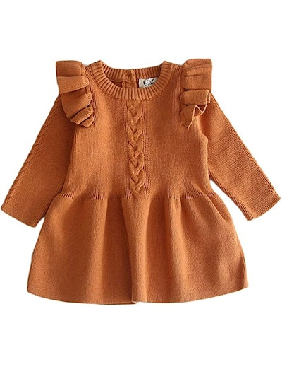 Mlpeerw Baby Girl Knit Sweater Dress