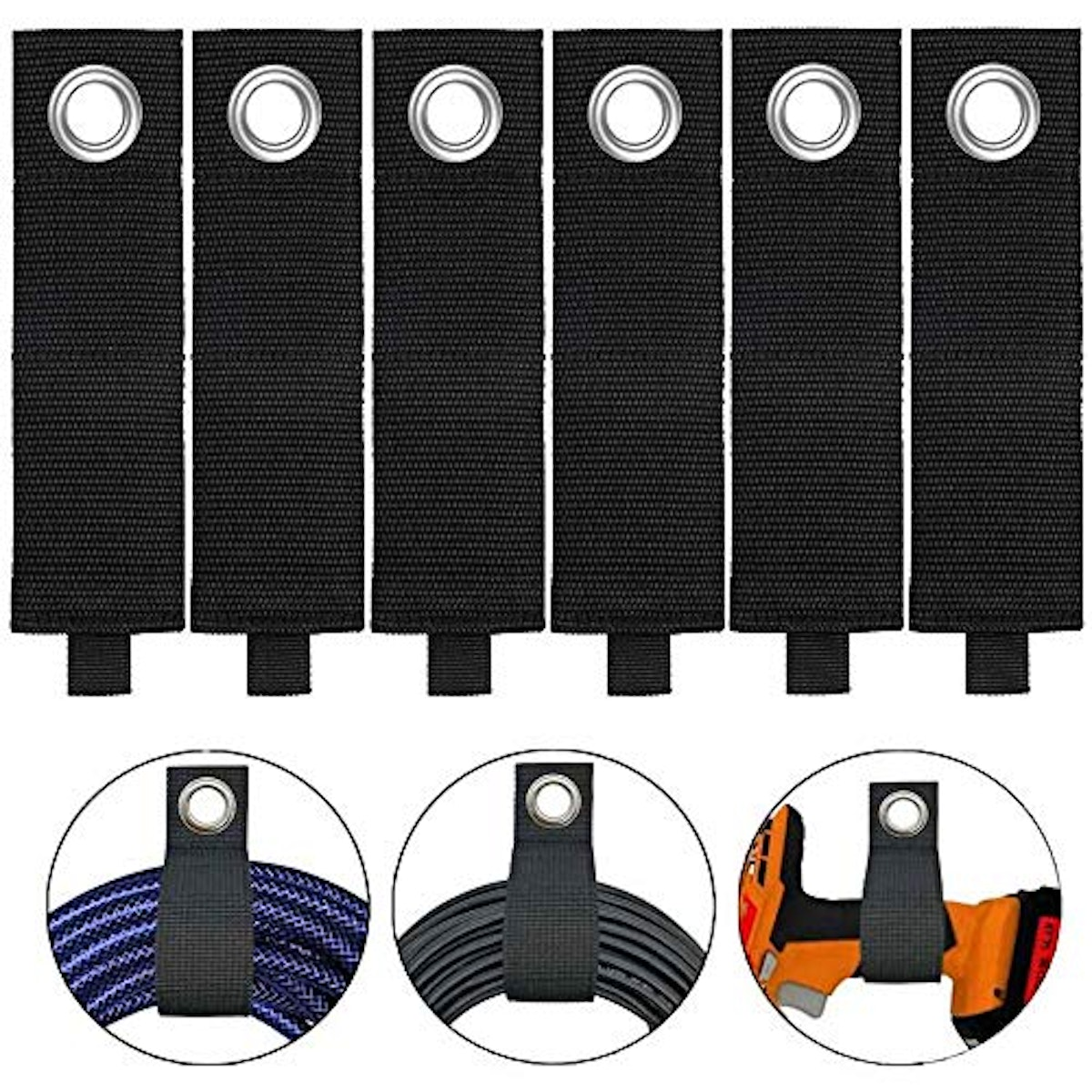 LuxuryScreenProtector Extension Cord Organizer (6-Pack)
