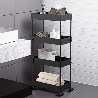 AOJIA Slide Out Storage Cart