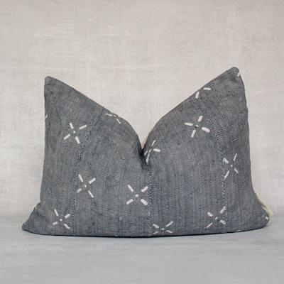 TURAI-Authentic Mali Mudcloth Lumbar Throw Pillow Cover