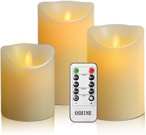 OSHINE Flameless Candles (Set of 3)