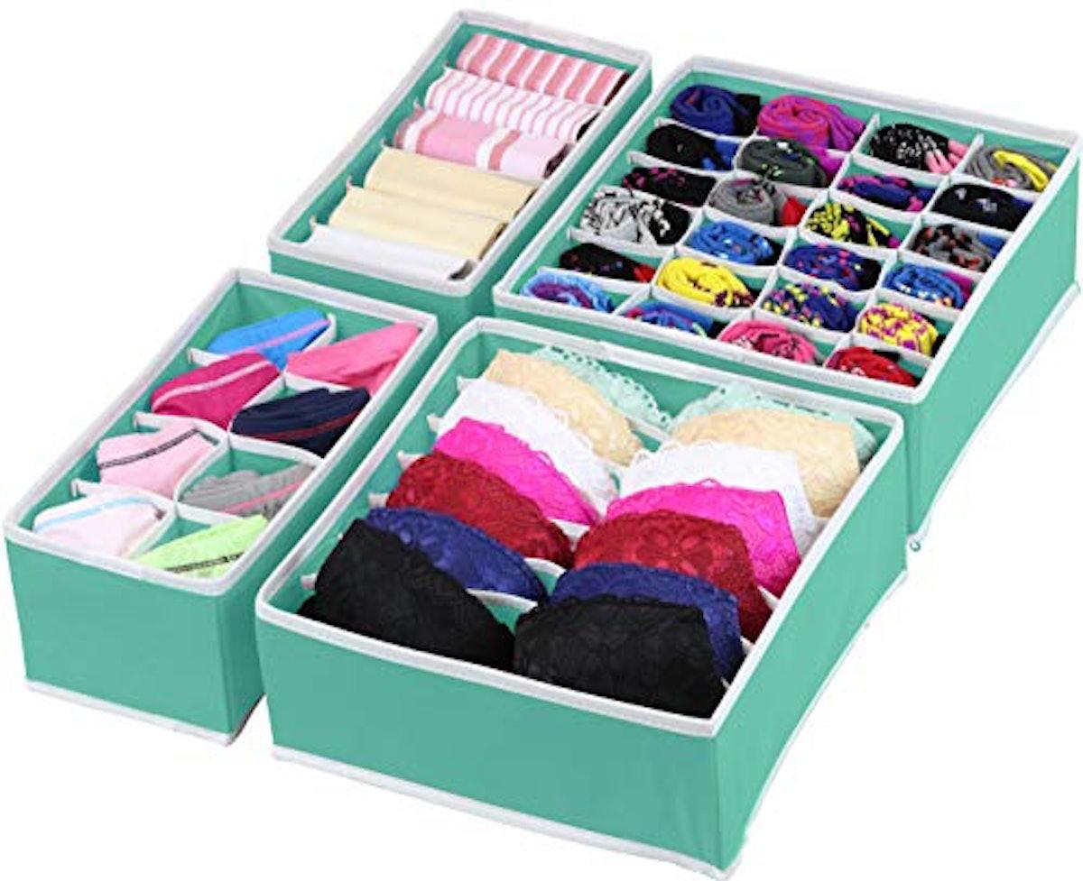 Simple Houseware Closet Underwear Organizer Drawer Divider (4-Pack)