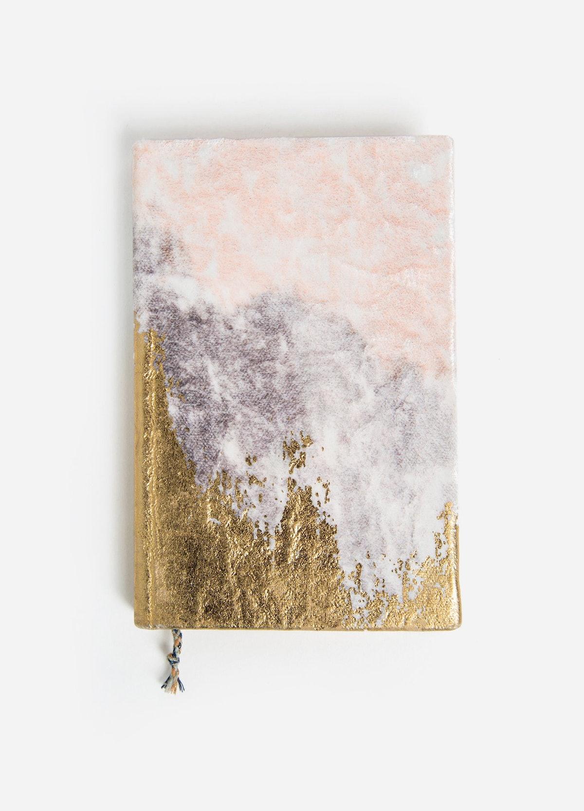 Gilded Velvet Gratitude Journal