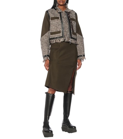 Wool-Blend Tweed Jacket