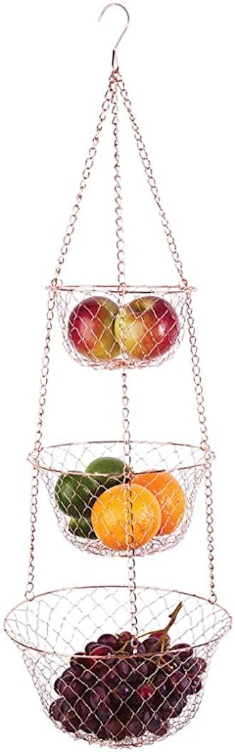 Fox Run Copper Hanging Fruit Basket
