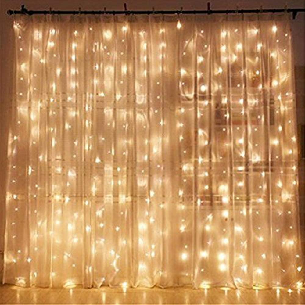 Twinkle Star LED Curtain String Lights