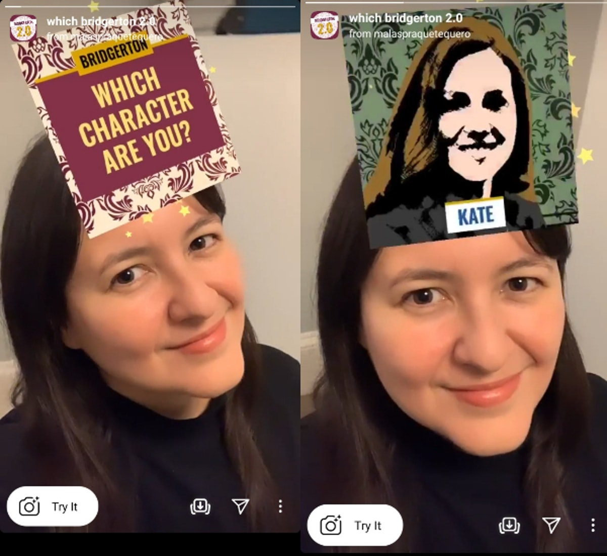 """These """"Which 'Bridgerton' are you"""" Instagram AR filters match you with your fave characters."""