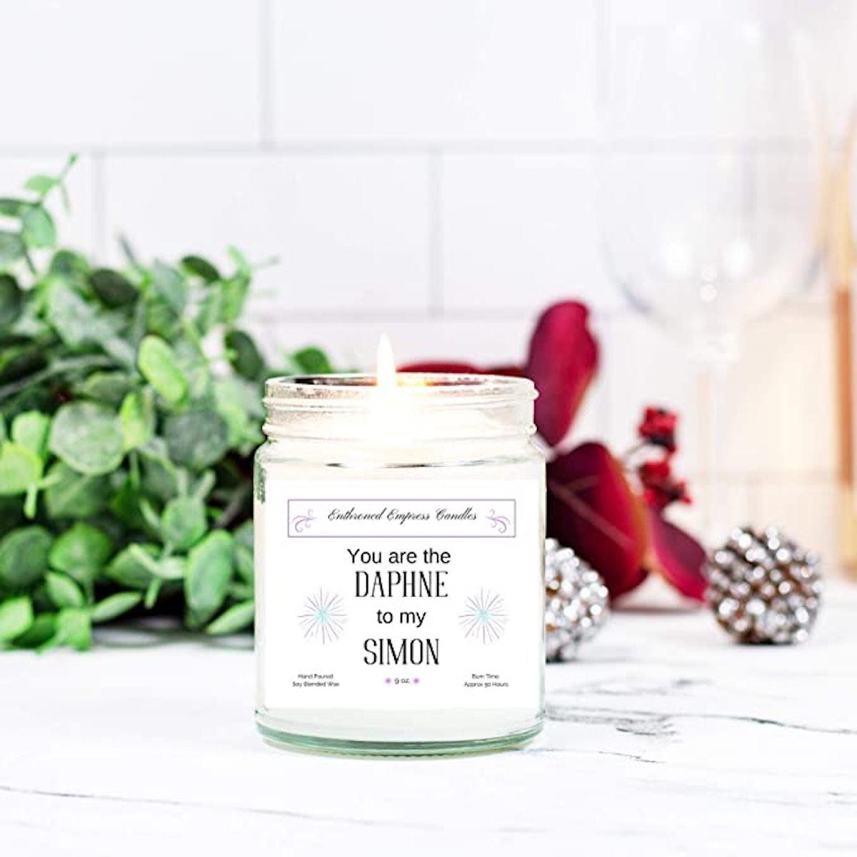 "The Daphne to My Simon""|Valentine Bridgerton|Candle"