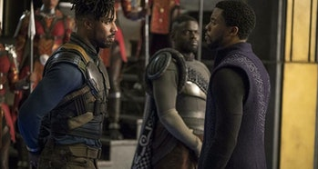 T'Challa and Killmonger Face Off in Black Panther