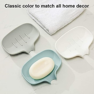 Self-draining Silicone Soap Dish