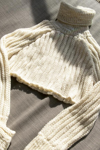 Palm Cropped Sweater