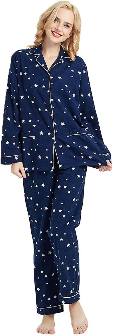 GLOBAL 2-Piece Flannel PJ Set