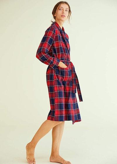 Latuza Women's Cotton Flannel Robe