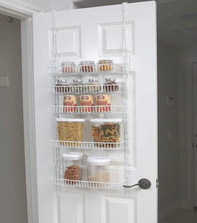 Smart Design Over-The-Door Adjustable Pantry Organizer Rack