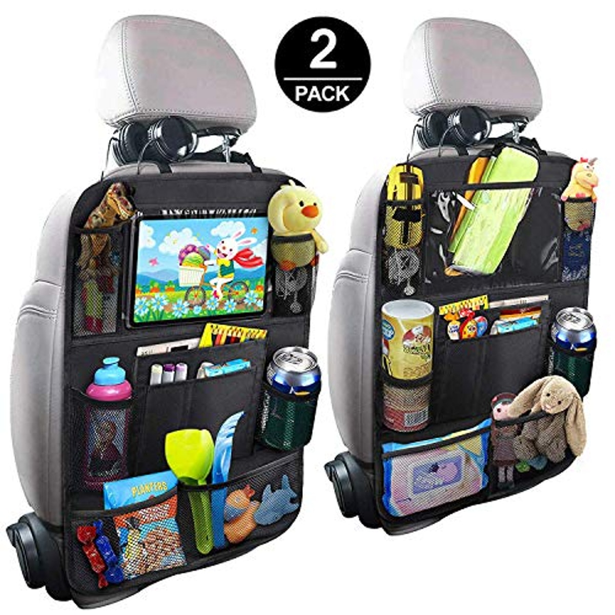 BAOZOON Car Backseat Organizer with Touch Screen Tablet Holder