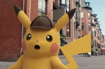 Detective Pikachu shocked face 3ds game
