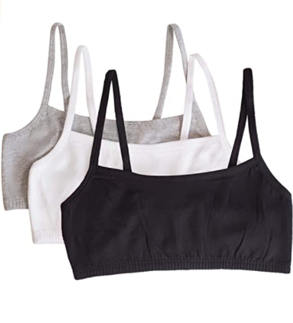 Fruit of the Loom Spaghetti Sports Bras (3 Pack)