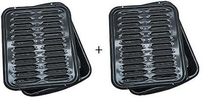 Range Kleen Oven Broiler Pan With Rack (2-Pack)