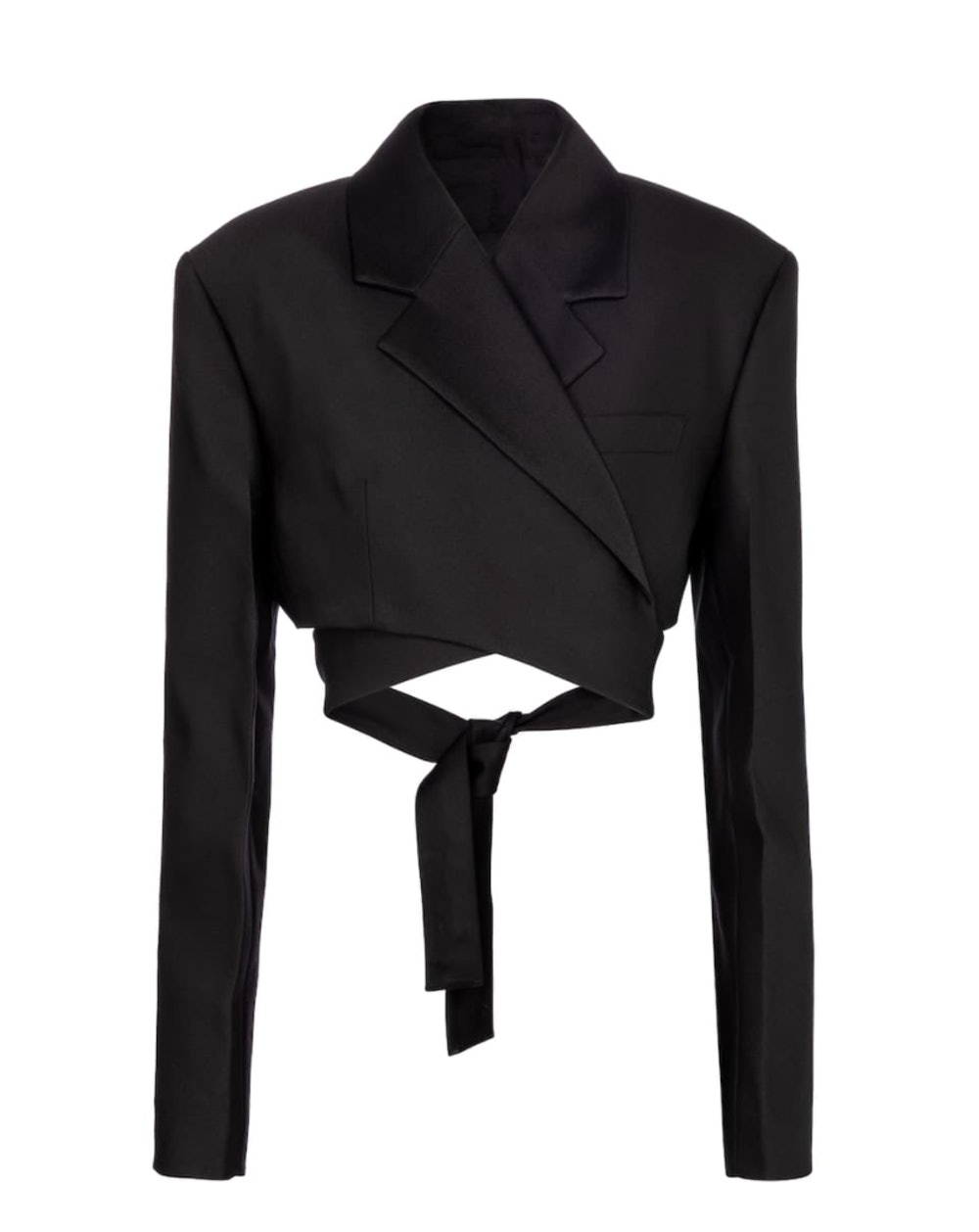 Cropped Wool and Silk-Blend Jacket