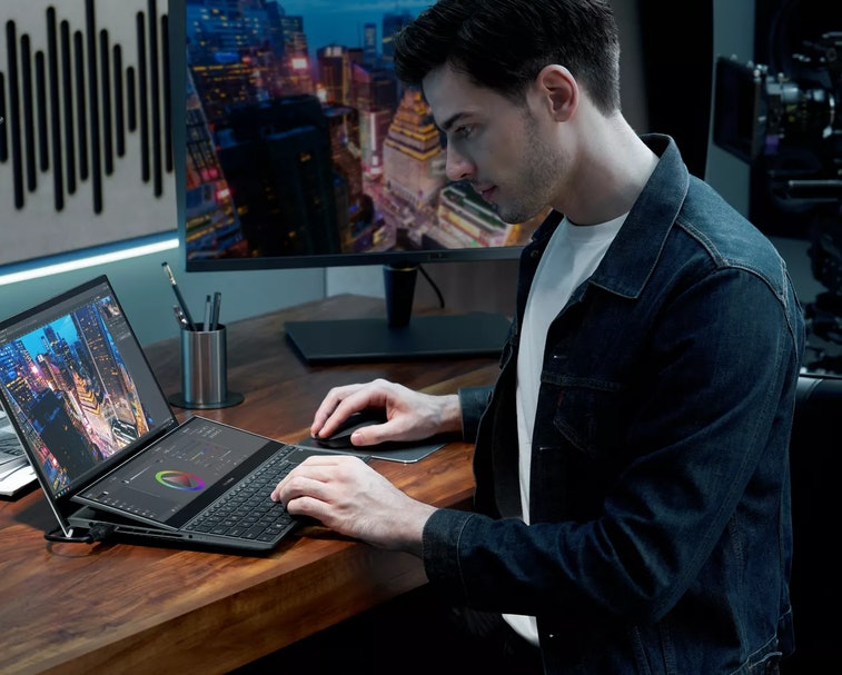 ZenBook Duo is a line of laptops with two screens.