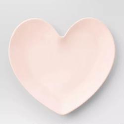 Opalhouse Melamine Heart Plate Pink