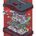 An exploded N64 illustration.