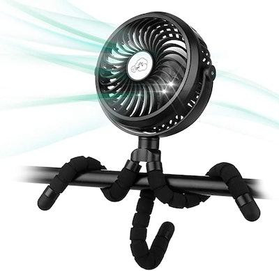 Amacool Battery-Operated Stroller Fan