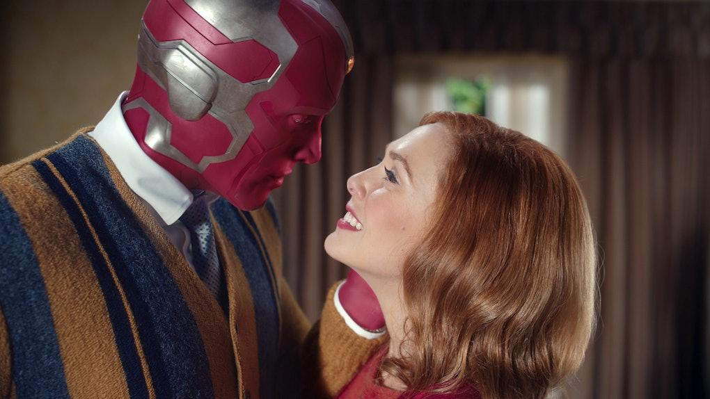 Elizabeth Olsen and Paul Bettany in WandaVision.