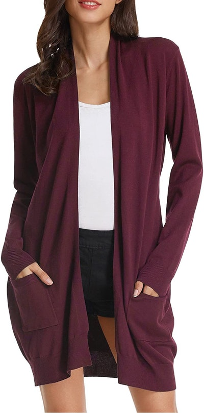 GRACE KARIN Essential Solid Open Front Cardigan