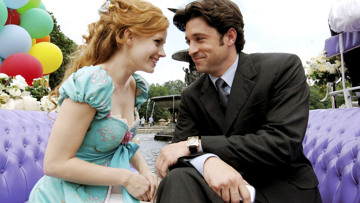 Amy Adams and Patrick Dempsey in Enchanted.