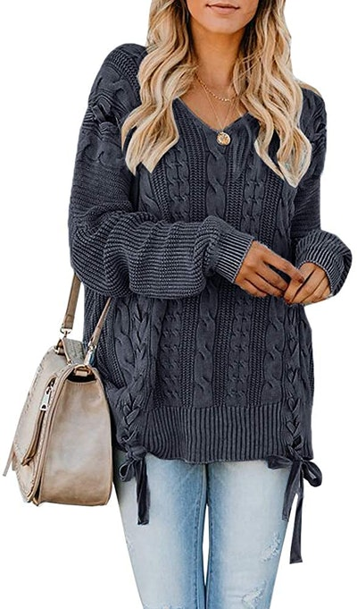 Ysskt Pullover Cable-Knit Sweater
