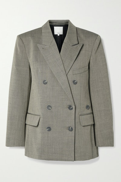 Luka Double-Breasted Twill Blazer