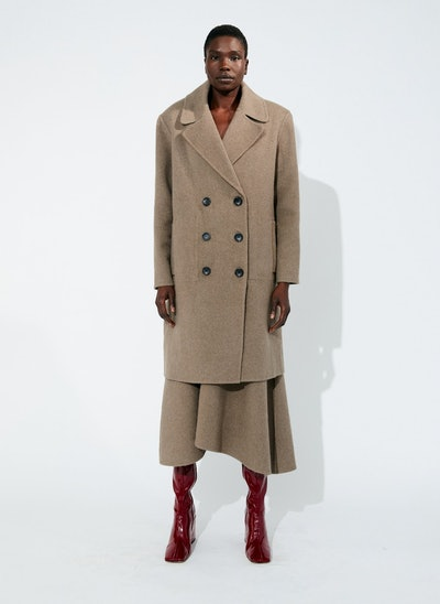 Luxe Double Faced Wool Angora Coat